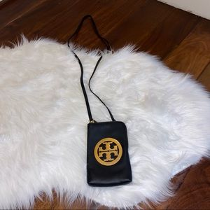 Tory Burch Black Phone Case Crossbody Purse Wallet